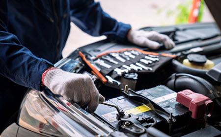 Audi Battery Inspection